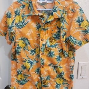Boys Pineapple button up shirt